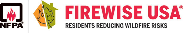 Firewise program banner with the National Fire Protection Administration logo